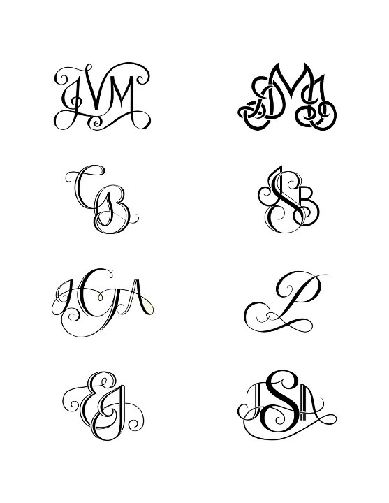 Tattoo monogram ideas for kids initials