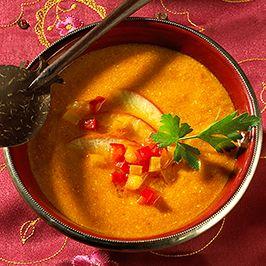 Papriková polévka se zázvorem a jablky.