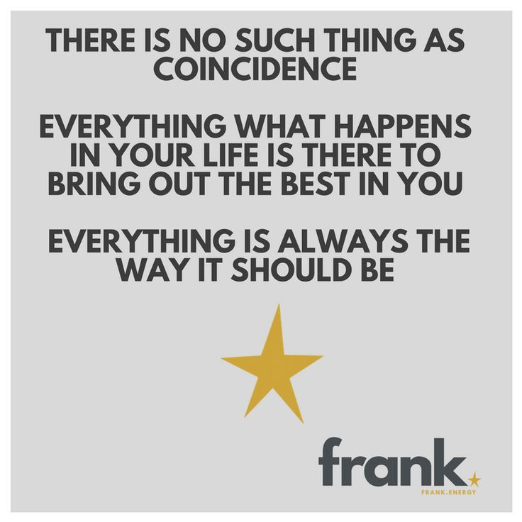 Everything happens for a reason - frank.energy