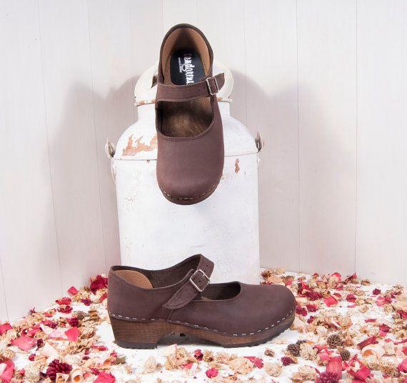 Clogs  Sandgrens  Mary Jane  Swedish Clogs  Leather by Sandgrens