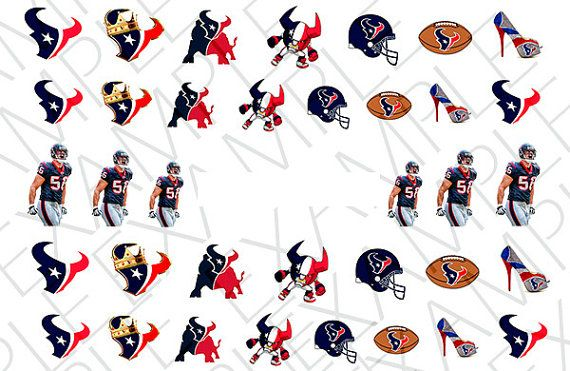34 Houston Texans Nail Decals by AMnails on Etsy