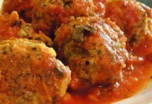 Albóndigas de setas con salsa de pimientos: suculenta sensación | El Palillo Leonés. Las tapas de León... a debate