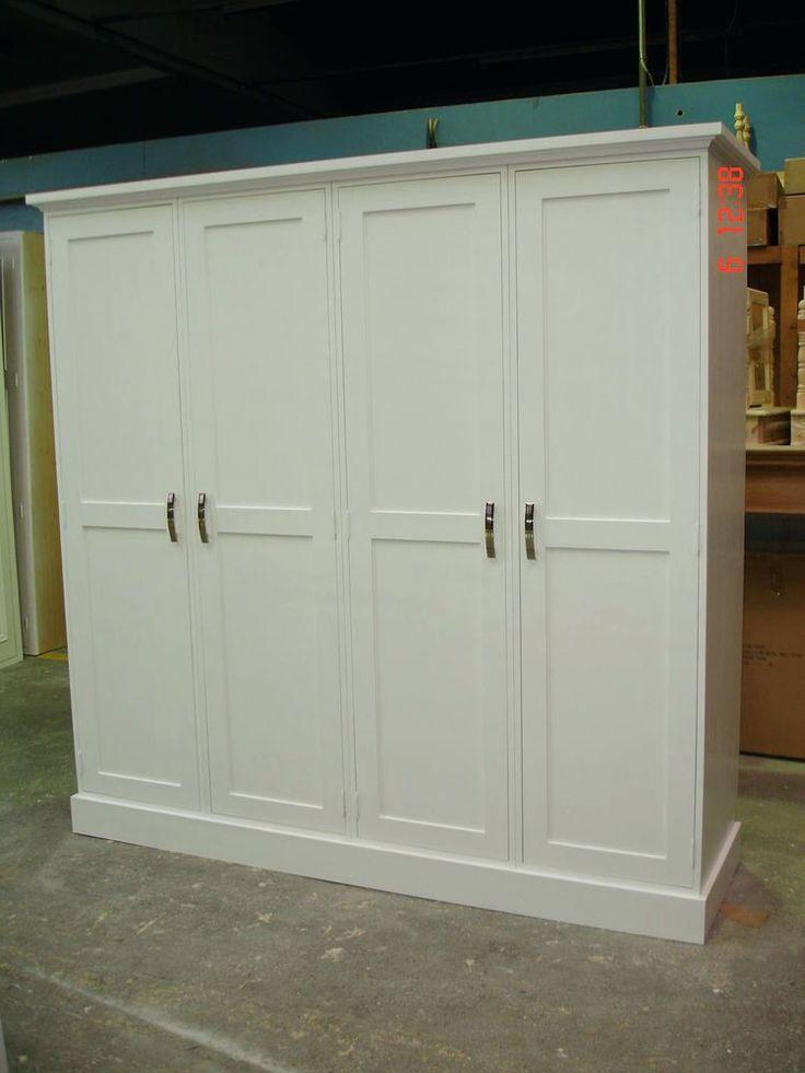Wardrobes: Shaker Wardrobe Door Ivory Shaker Style Wooden Wardrobe Doors Walnut Shaker Sliding Wardrobe Doors White Painted Large 4 Door Solid Pine Shaker Style Shabby Chic Wardrobe New: