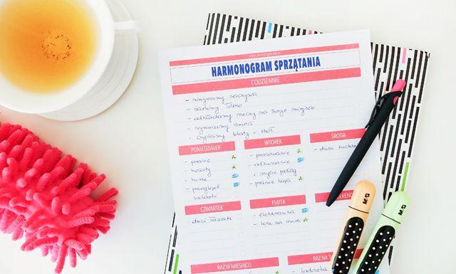 Harmonogram sprzątania - nowa ulepszona wersja