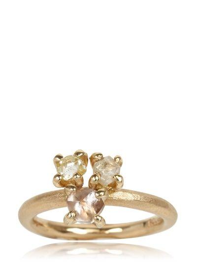 THREE ROUGH DIAMONDS RING - LUISAVIAROMA