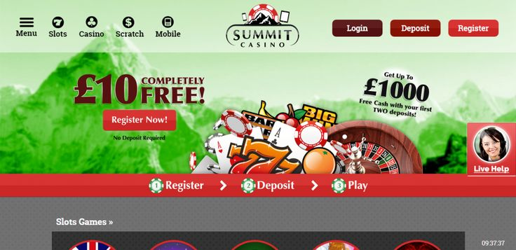 Play Mobile Casino, Online Casino, Mobile Slots & Online Slots at Summit Casino. Register Your Details & Claim Your Bonus Today!