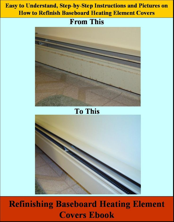 Restoring Steel Baseboard Heating Element Covers EBook - Immediate Download  A How to Guide on Restoring and Re-Finishing Steel Baseboard Heating Elements Covers