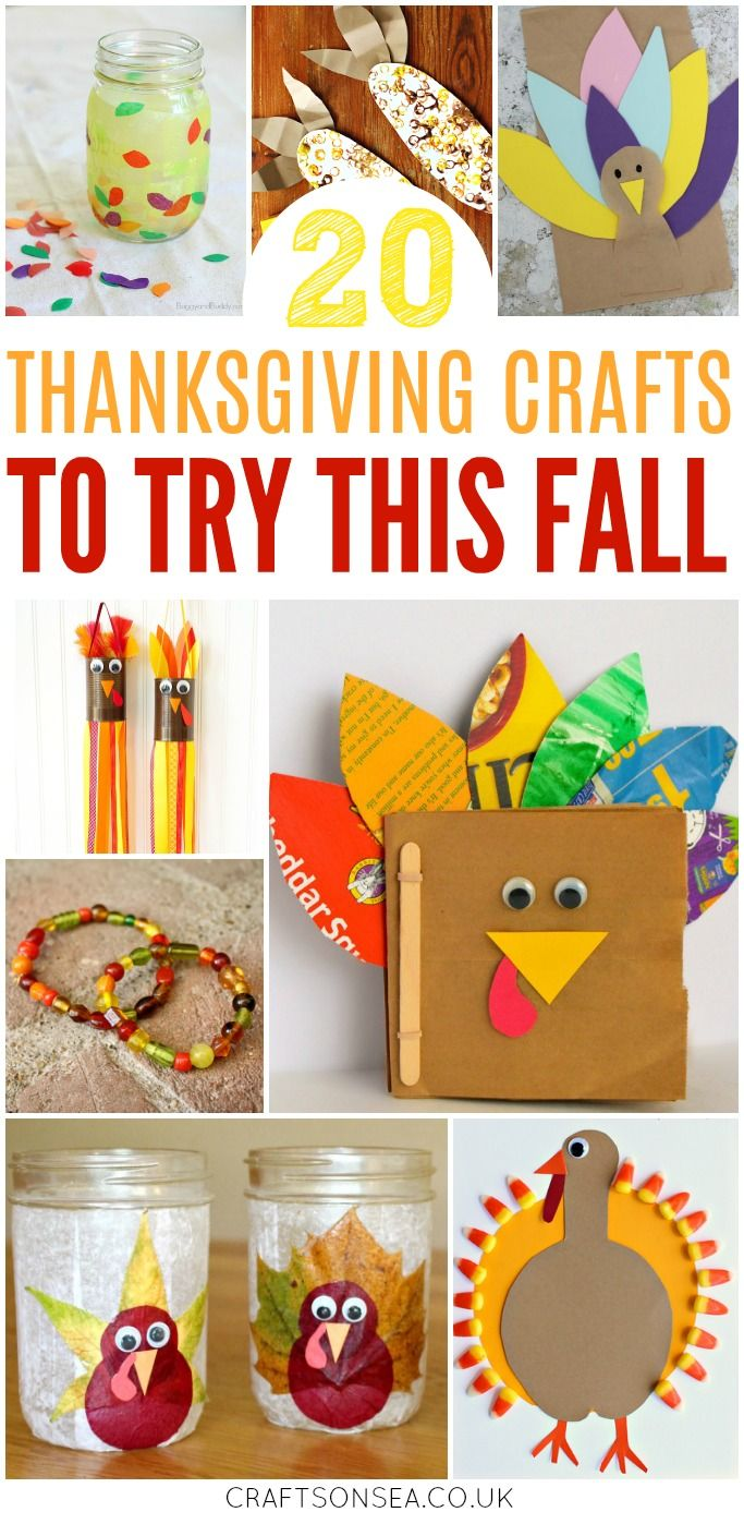 20 Fun and easy Thanksgiving crafts for kids that you'll want to try! Loads of awesome ideas including crafts to encourage thankfulness and turkey crafts #thanksgiving #thanksgivingcrafts