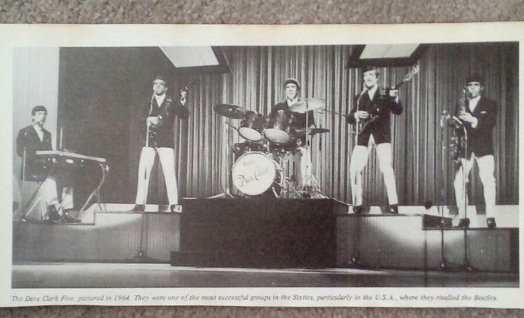 """THE DAVE CLARK FIVE - ORIGINAL + RARE PICTURE Approx. 9"""" by 4"""""""