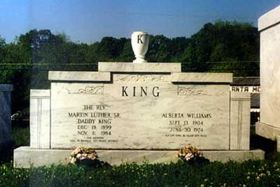 Alberta King (1904 - 1974) Mother of Martin Luther King, Jr., killed by a mentally disturbed man while playing the organ at Ebenezer Baptist Church