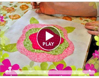 Big Bloomers video - soft edge applique technique