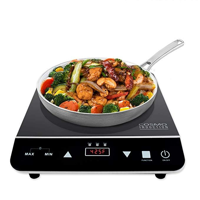 Buy Cukor Portable Electric Stove 1200w Infrared Single Burner Heat Up In Seconds 7 1 Inch Ceramic Single Hot Plate Cooktop Dorm Office Home Camp Compatible In 2020 Electric Cooktop Cooktop Electric Stove