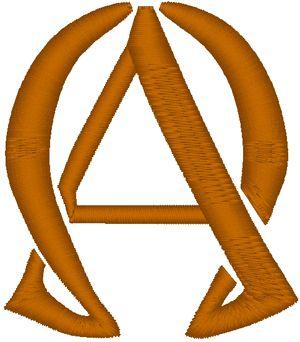 "Alpha and Omega Symbols | Hoop Size: Select machine format 4"" x 4"" (100mm x 100mm) 5"" x 7 ..."