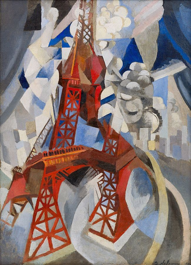 La tour rouge (Red Eiffel Tower), 1912 by Robert Delaunay