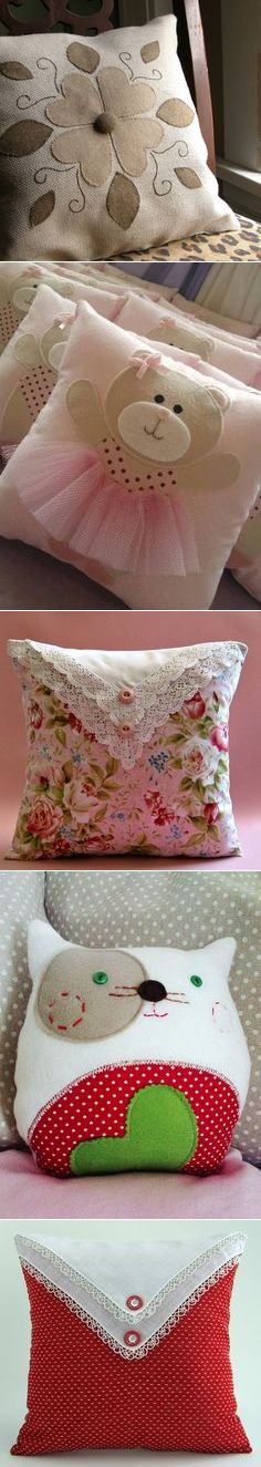 HOME flower pillow throw | Quilting / Patchwork