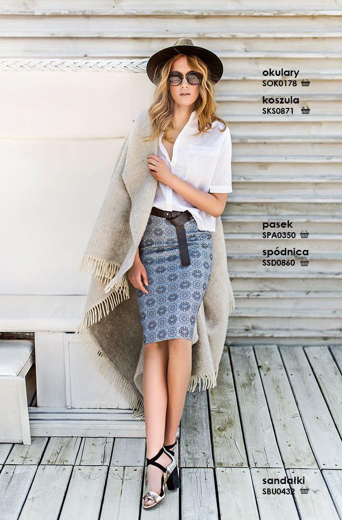 Modna ołówkowa #spodnica we wzory