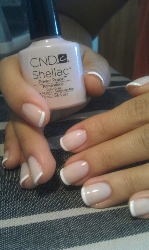 Cool CND Shellac nail color # Romantique# french manicure...