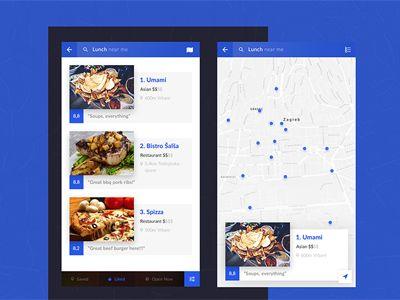 Restaurant List / UI Challenge by Sanjin Pleša