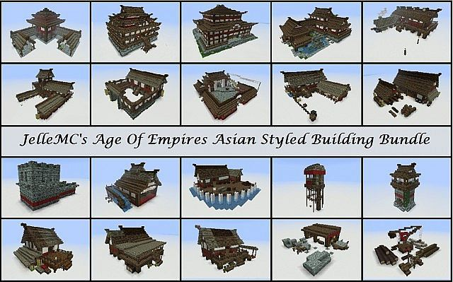 Jellemc S Age Of Empires Asian Styled Building Bundle