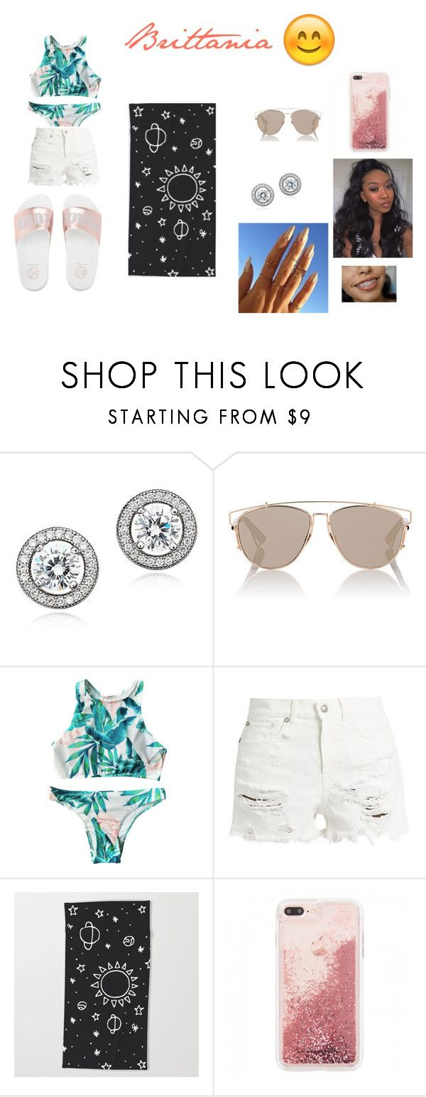 """""""pool day outfits #1"""" by mayajoon on Polyvore featuring Crislu, Christian Dior and R13"""