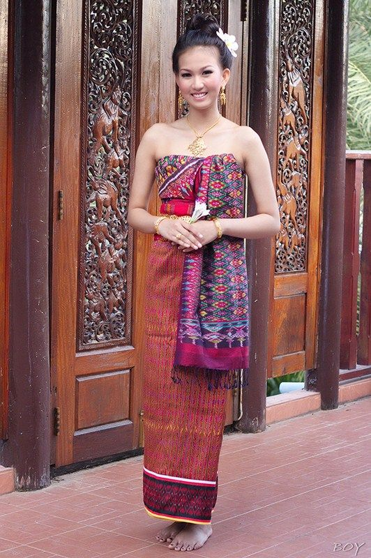 Thai Esan tradition costume
