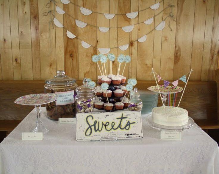 Dessert Table Vintage Party It Has Preetty Color Lianggono Susanto Crista Priscilla 50th Birthday