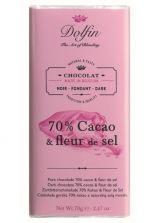 Dolfin 70g. Ciocolata neagra 70% cacao si flori de sare