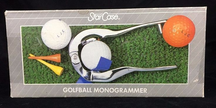 Golf Ball Marker Monogrammer Kit Vintage 1986 by Star Case Personalize 3 Initial #StarCase