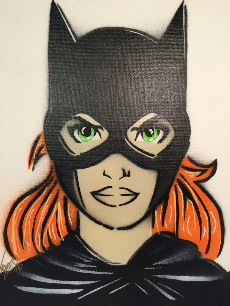 A personal favorite from my Etsy shop https://www.etsy.com/ca/listing/262120120/batgirl-dc-comics-spray-painting
