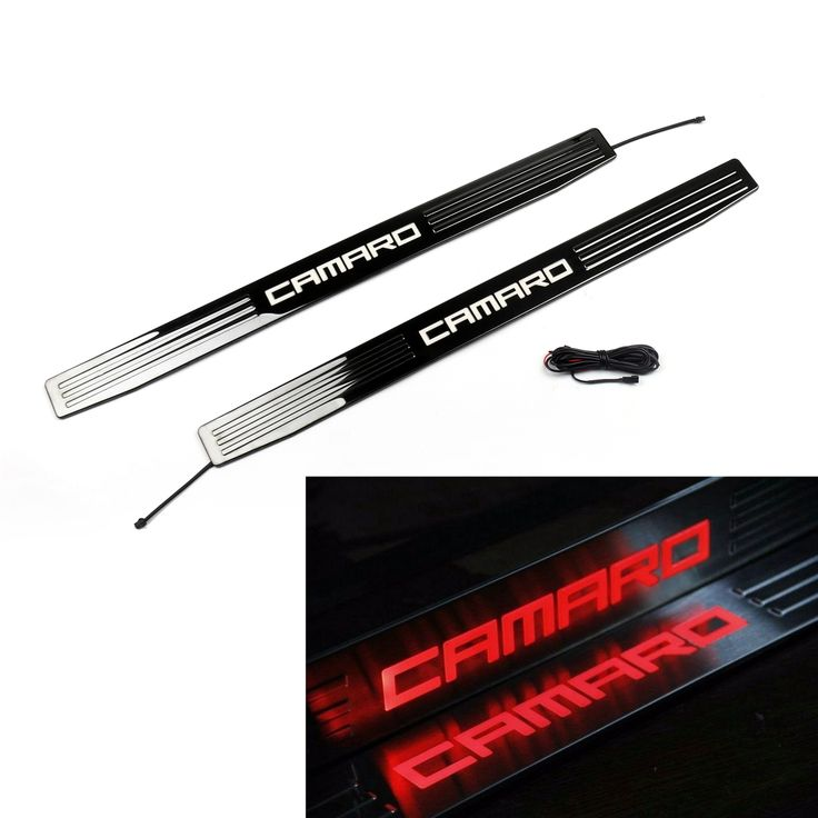 Mad Hornets - LED Light 2 Door Entry Sills Plate Guard Chevrolet Camaro 2010-2015 Red, $79.99 (http://www.madhornets.com/led-light-2-door-entry-sills-plate-guard-chevrolet-camaro-2010-2015-red/)