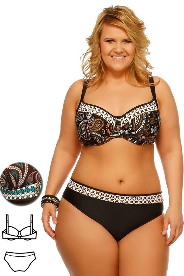 Bahama barna-türkiz mintás bikini - extra