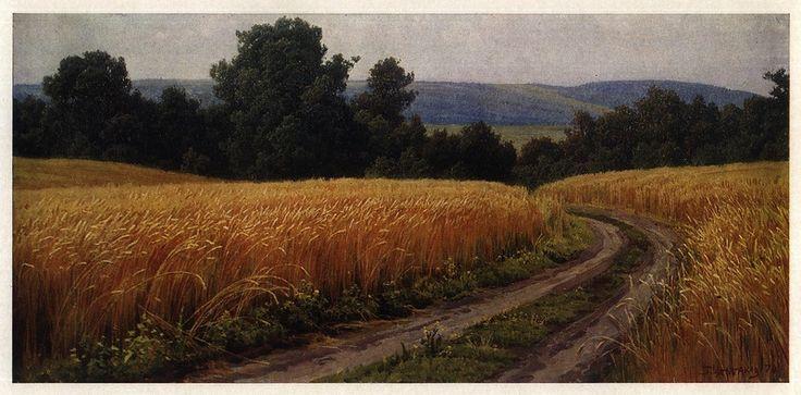 Пшеница поспела. Из цикла «Пейзажи Молдавии», 1970 год.