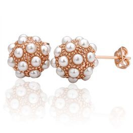 The Vermeer Earrings  Lovely and classic, these are great post style earrings for every day wear.  18k gold plated with faux pearls in 1.2 cm sphere. Post style. $20.00