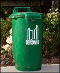 Green Bin - program of 460k residents program of compost collection from residents - doesn't go into a landfill and accounts for approx 50% of a residents waste - the compost is then available for the city residents for their gardens