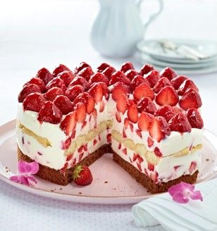 Italienische  Erdbeer-Mascarpone-Torte Rezept