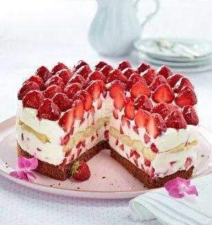 Italienische Erdbeer-Mascarpone-Torte