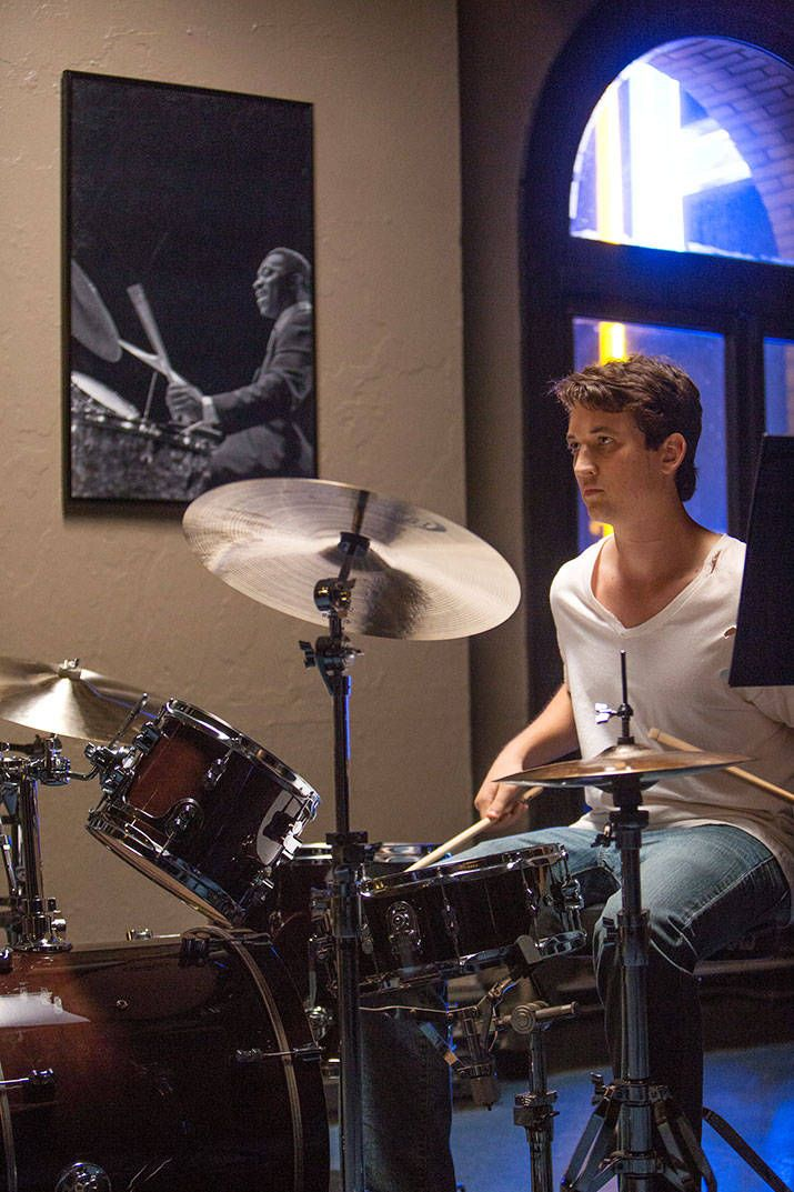 Miles Teller in Whiplash, directed by Damien Chazelle