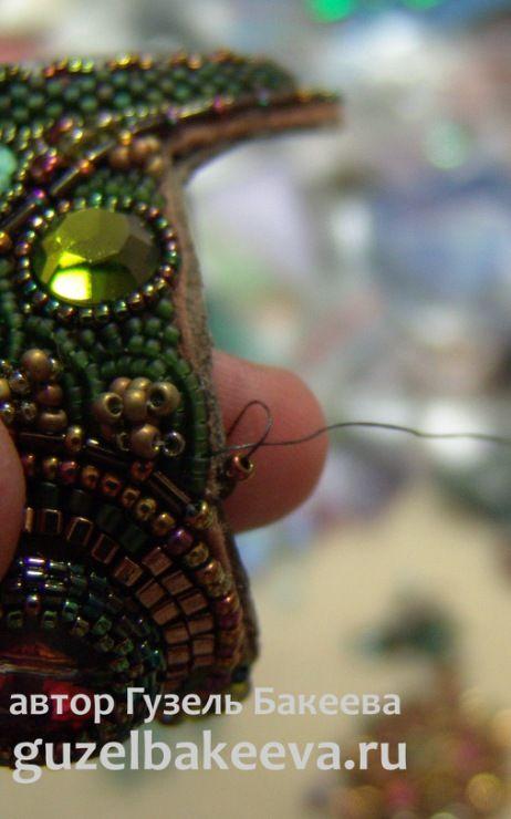 Гузель Бакеева - Вышитый бисером браслет Питон - Ярмарка Мастеров - ручная работа, handmade