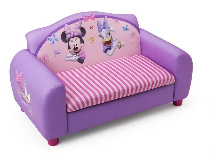Blue Storage Kids Toy Box Playroom Furniture Bedroom Girls: Disney Minnie Mouse Daisy Duck Pink Bedroom Sofa Satee