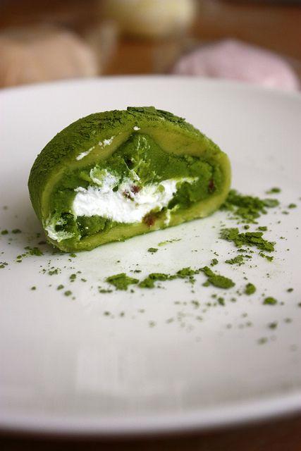 green tea mochi cream