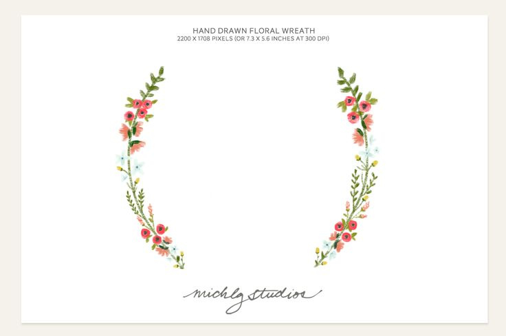 Floral Wreath Aquarell Pinterest Watercolors Logos