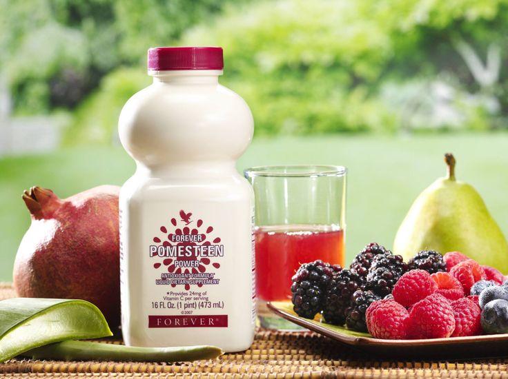 A nagyszerű ízű Pomesten Power olyan válogatott gyümölcsök keveréke, mint a gránátalma, körte, mangosztán, málna, szeder, áfonya és szőlőmag. Tapasztalja meg a napérlelte gyümölcsökben fellelhető antioxidánsok kivételes hatékonyságát a Pomesten Powerrel!