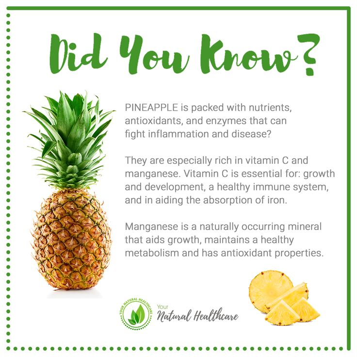 PINEAPPLE is packed with nutrients antioxidants and ...