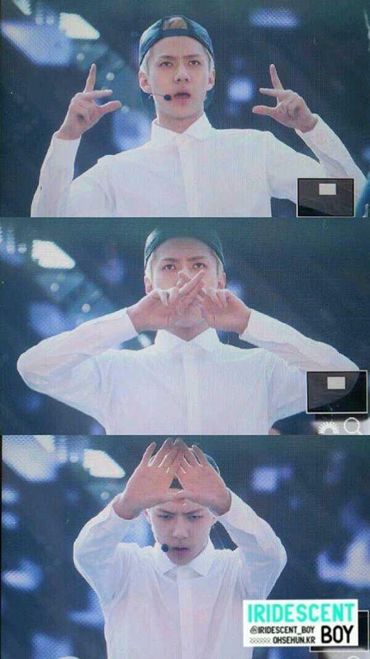 E to the X to the O! EXO! #sehun