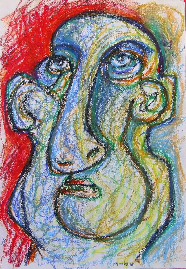 Francesco Sacrati - like many of my titles I have no idea where it came from. Oil pastel on paper - with a cubist tinge.