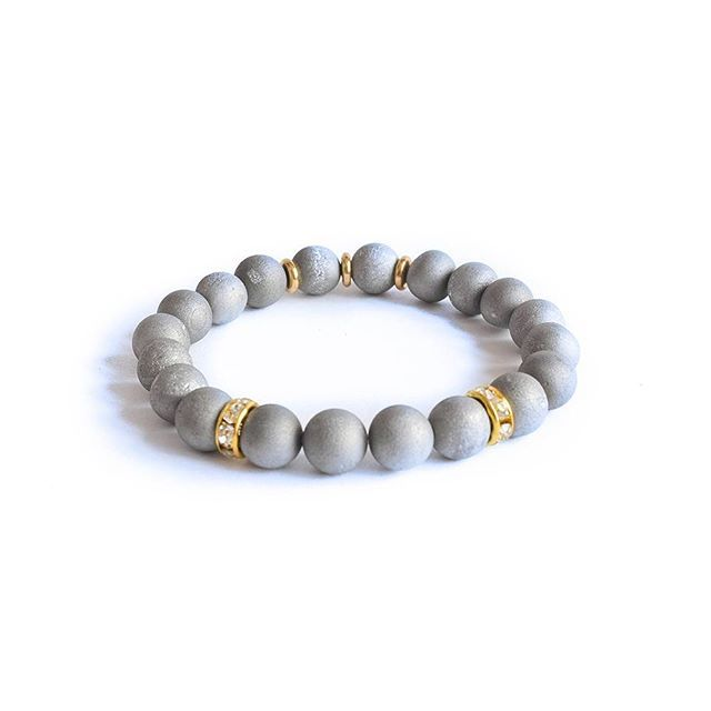 """Simplicity is our language and he means of expression are our accessories. Check our """"Lovely Gray Bracelet"""" Link in bio... . 📿🤗 #MagiskaCo #handmade #fashion #style #love #beauty #beautiful #instafashion #pretty #girl #girls #outfit #bracelets #bracelet #braceletstacks #yogabracelets #fashionista #accessories #jewelry #fashionlovers #armcandy #armparty #armswag #gemstones"""