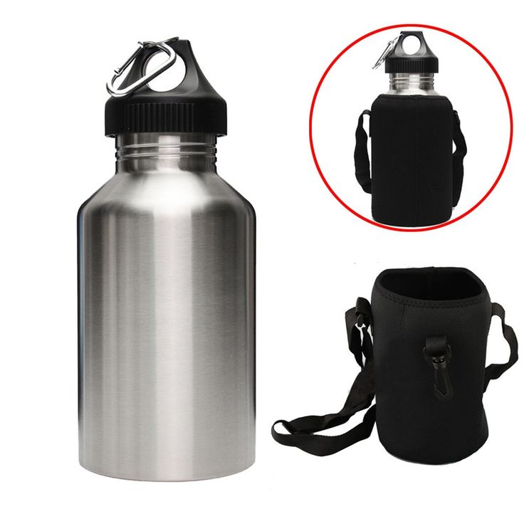 1 Set 2L Large Volume Stainless Steel Water Drink Bottle With Carrier Bag Holder Cycling Camping Sports Gym Bottle Kettle