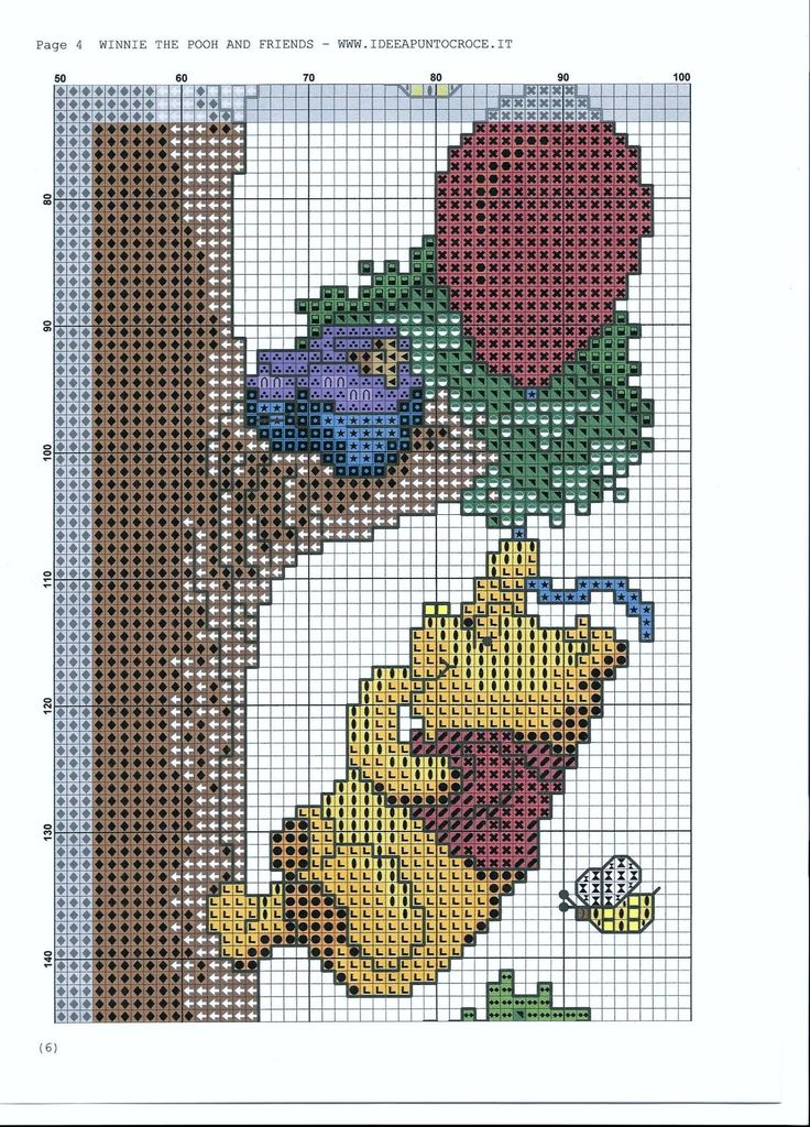 Winnie the pooh y compañía sobre un árbol 5/8