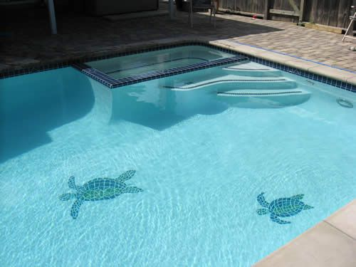 16 best images about pool remodel on pinterest sea - Mosaic pool tiles ...