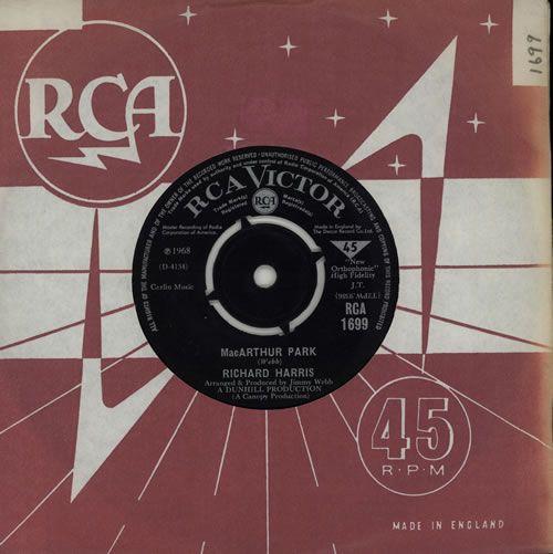"Richard Harris MacArthur Park 7"" vinyl single (7 inch record) UK RHR07MA317379"